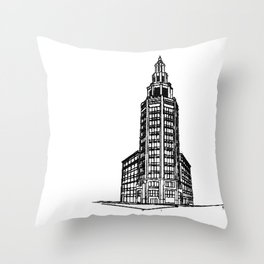 the Electric Tower Throw Pillow