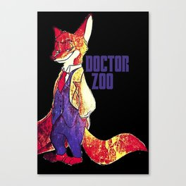 "Doctor Zoo: ""Zootopia""/""Doctor Who"" Crossover Canvas Print"