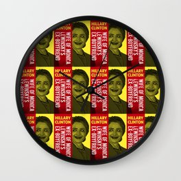 Hillary Clinton Is Scary Wall Clock