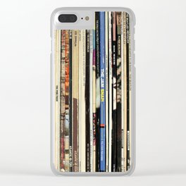 Classic Rock Vinyl Records Clear iPhone Case