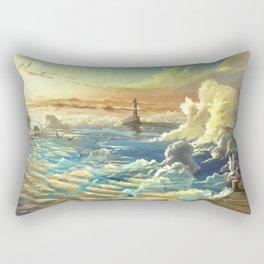 on shore of the sky Rectangular Pillow