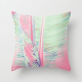 Flamingo and banana Throw Pillow