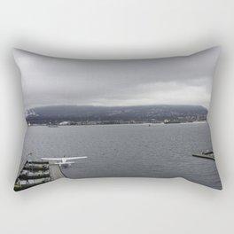 Seaplane and Stanley Park Rectangular Pillow