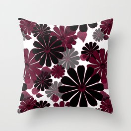 Abstract floral pattern .5 Throw Pillow