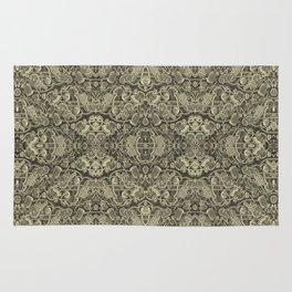 Vintage kaleidoscopic knitting endpaper Rug