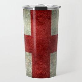 Flag of England (St. George's Cross) Vintage retro style Travel Mug