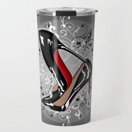 Grey Delicate Shoes Travel Mug