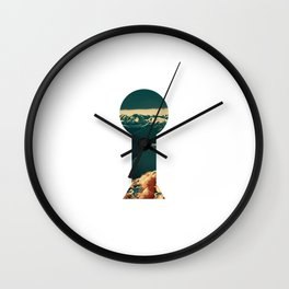 Inward Myself Lake Vaughn Wall Clock
