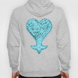 Heartless 8bit style blue neon Hoody