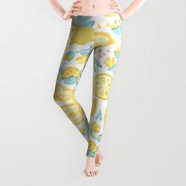 Lemon pattern White Leggings