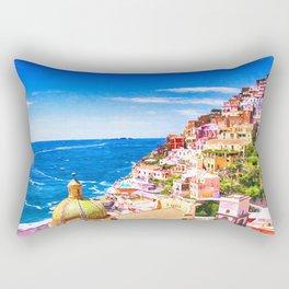 Colorful Positano Italy Rectangular Pillow
