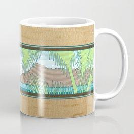 Ala Moana Diamond Head Hawaiian Surf Sign Coffee Mug