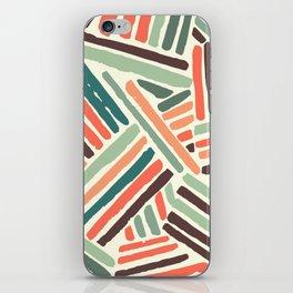 Color stitch iPhone Skin