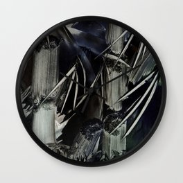 Bamboo Abstract in Encaustics Wall Clock
