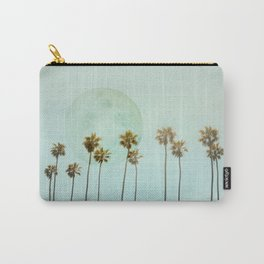 Full Moon Paradiese Beach Palm Trees Carry-All Pouch