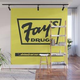 Fay's Drugs   the Immortal Yellow Bag Wall Mural