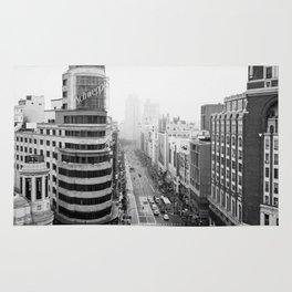 Gran Via in Madrid Rug