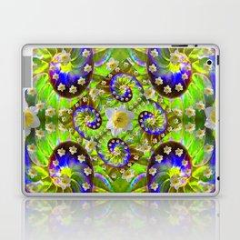 ULTRA VIOLET GREEN DAFFODIL GARDEN MAZE Laptop & iPad Skin