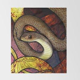 Indo-Chinese Rat Snake Throw Blanket