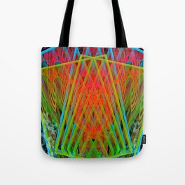 A Psychedelic Hand of Cards Tote Bag