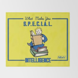 Intelligence S.P.E.C.I.A.L. Fallout 4 Throw Blanket