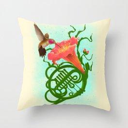 Musical Nectar Throw Pillow