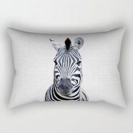 Zebra - Colorful Rectangular Pillow