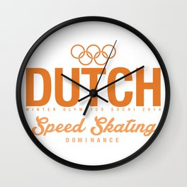 Dutch - Speed Skating Wall Clock
