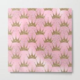 Royal Mermaid Crown Metal Print