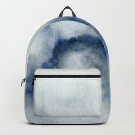 Indigo Abstract Painting   No.3 Backpack