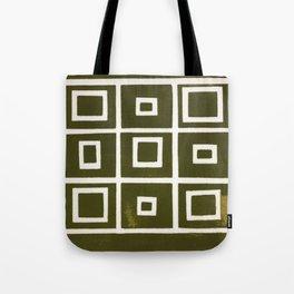 Hollywood Squares - Olive Tote Bag
