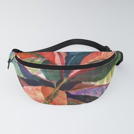 Colorful Tropical Leaves 1 Fanny Pack