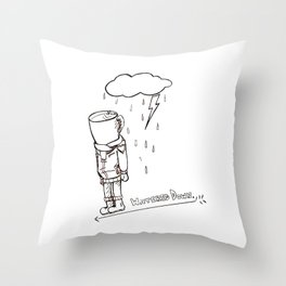 Coffee Bloke Throw Pillow