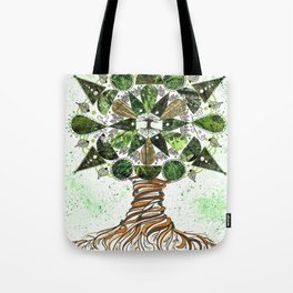 Tree of LIfe Mandala Tote Bag