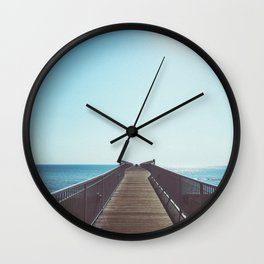 boardwalk leading into the great lakes Wall Clock