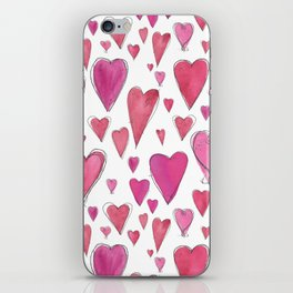Watercolor My Heart (Large) by Deirdre J Designs iPhone Skin