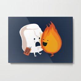 Friendly Fire Metal Print