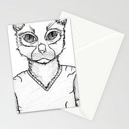 B&W ManCat Stationery Cards