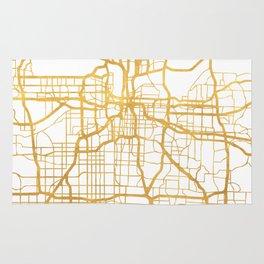 KANSAS CITY MISSOURI CITY STREET MAP ART Rug