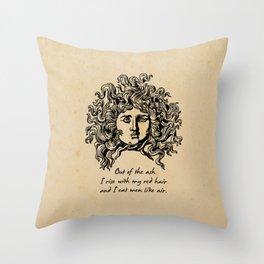 Sylvia Plath - Lady Lazarus Throw Pillow