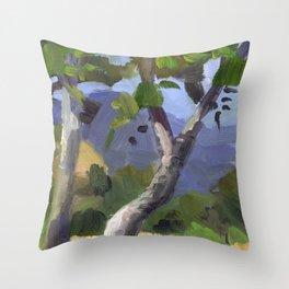 BETTE DAVIS PARK, plein air landscape by Frank-Joseph Paints Throw Pillow