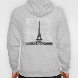 Eiffel tower, Paris France in black and white with painterly effect Hoody
