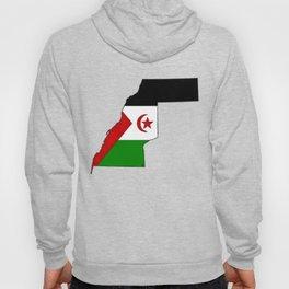 Western Sahara Map with Western Saharan Flag Hoody