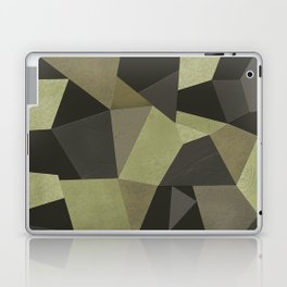 Black shabby green patches of the skin . Laptop & iPad Skin