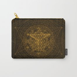 Dark Matter - Gold - By Aeonic Art Carry-All Pouch
