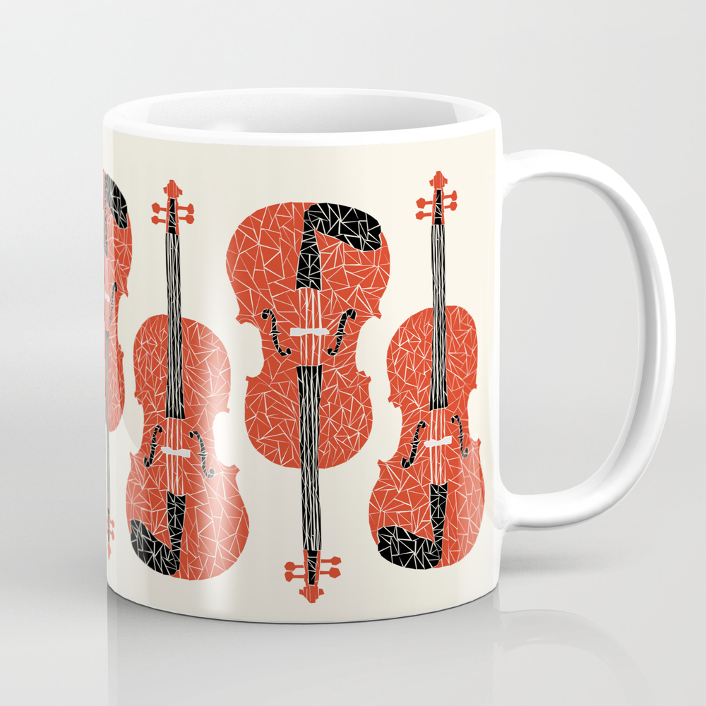 The Red Violin Mug by Andrealauren MUG623320