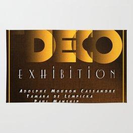 Art Deco Exhibition Poster Rug