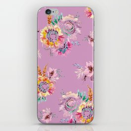 Meadow Flowers on Pastel Purple iPhone Skin