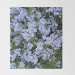 Forget Me Nots Throw Blanket