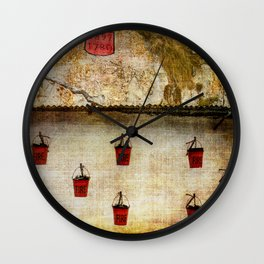 Gibraltar Fire Buckets Wall Clock